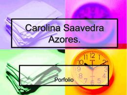 Carolina Saavedra Azores
