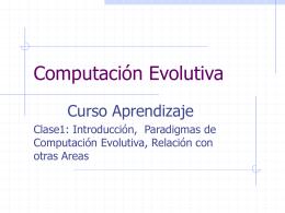 Computación Evolutiva (CI-6463)