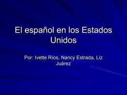 El español en los Estados Unidos (1)