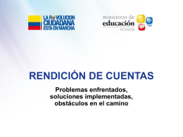 Problema enfrentado - Ministerio de Educación