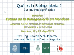 ¿Qué es la Bioingeniería?