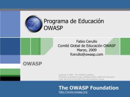 Introducción a OWASP