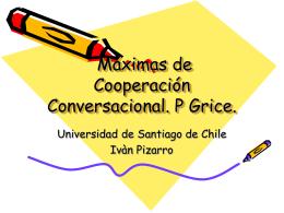 Reglas de cooperación conversacional P. Guice