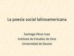La poesía social latinoamericana