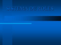 SISTEMA DE ROLES