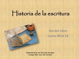 escritura cuneiforme - Colegio, Nuestra Señora del Carmen