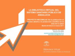La Biblioteca Virtual del Sistema Sanitario Público