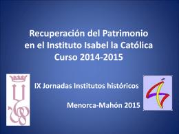 Presentación - Institut Joan Ramis
