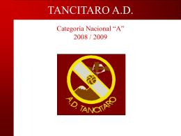 TANCITARO A.D. - Tu patrocinio