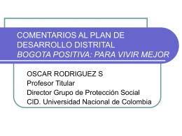 Oscar Rodríguez - CID - Universidad Nacional de Colombia