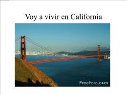 Voy a vivir en California