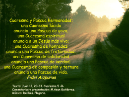 V Domingo de Cuaresma, Ciclo B. Evangelio
