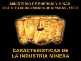 característica de la industria minera