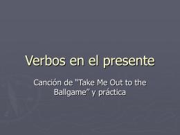 Verbos en el presente - Espanol-con