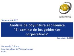 Seminario AIPEF. Presentación - Superintendencia de Valores y