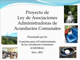 Presentación Power Point sobre COFORSA y el proyecto de ley.