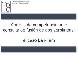Análisis de competencia ante consulta de fusión de dos aerolíneas