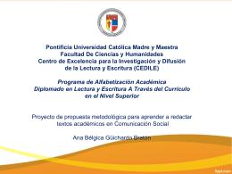 Proyecto de propuesta metodológica para aprender a redactar