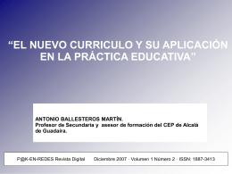 el nuevo curriculo y su aplicación en la práctica educativa
