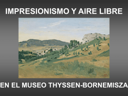 Impresionismo y aire libre_Thyssen.pps