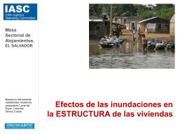 Efectos de las inundaciones en el estado de las