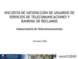 Revise la encuesta sobre satisfacción y el ranking