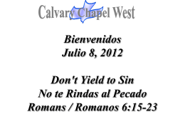 Romans 6:15-19 - Calvary Chapel West
