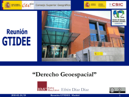 1 Reunión GTIDEE Madrid 2010-02