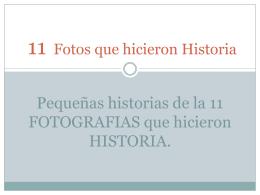 11 Fotos que hicieron Historia
