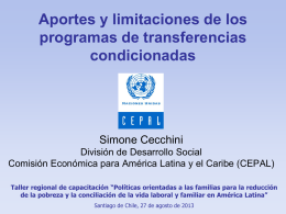 Los programas de transferencias condicionadas