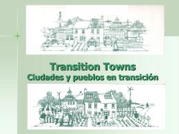 Ciudades y pueblos en transición