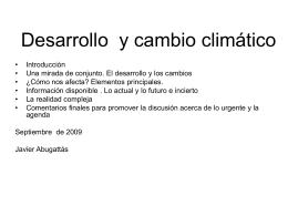 Desarrollo y cambio climático Expositor Javier Abuggattas