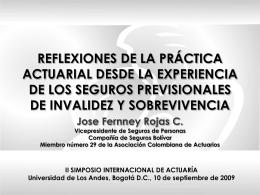 José Ferney rojas - Departamento de Matemáticas, Universidad de