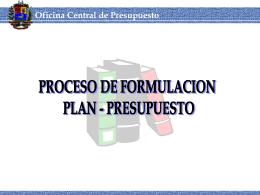 Proceso de formulación plan