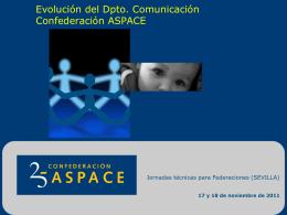 Evolución del Dpto. Comunicación Confederación ASPACE
