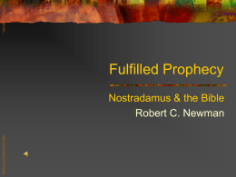 Fulfilled Prophecy - newmanlib.ibri.org