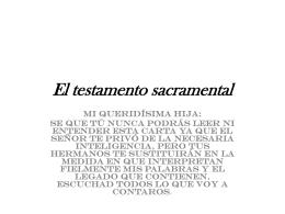 el testamento sacramental