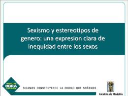Sexismo y estereotipos de genero