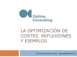La optimización de costes
