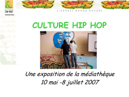 RAP ET CULTURE HIP HOP