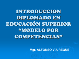 diplomado en educacion superior alfonso via reque