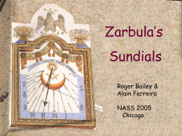 Zarbula`s Sundials - Walking Shadow Designs