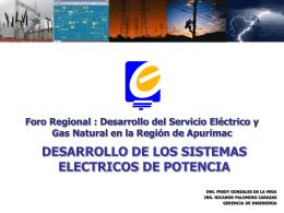 Desarrollo de los Sistemas Eléctricos de Potencia