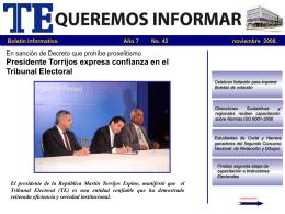 Noviembre de 2008 - Tribunal Electoral