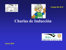 Charlas de Inducción - AURA-O