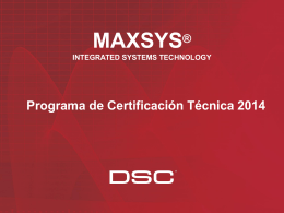 Certificación Maxys