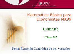 Clase 9.2 (Ecuación cuadrática)