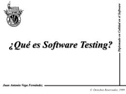 Que son las pruebas de software?