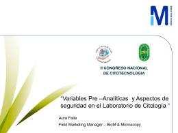 Variables Pre-Analiticas y Aspectos de