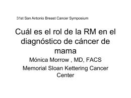 Cuál es el rol de la RM en el diagnóstico de cáncer de mama